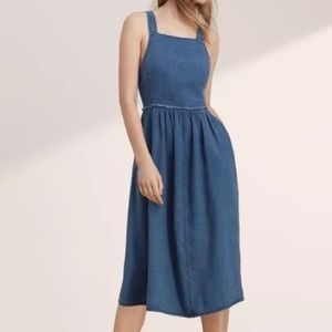 Aritzia Wilfred Denim Overall/Pinafore Dress